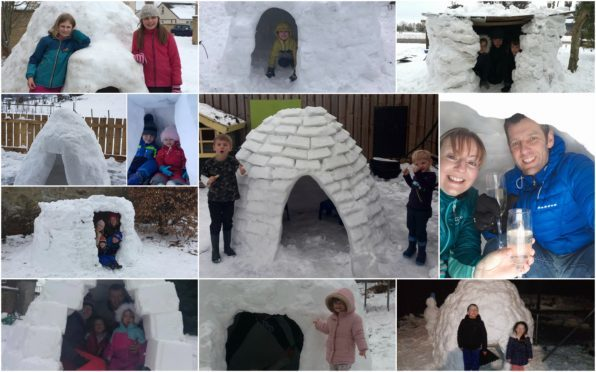 Some of the igloo photos sent in to The Courier.