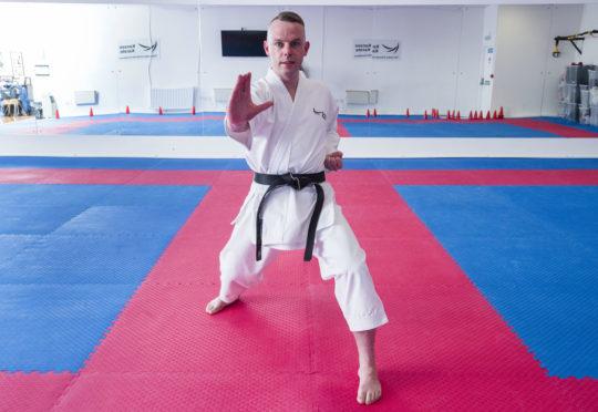 Roy O'Kane in action at the Kanzen dojo.