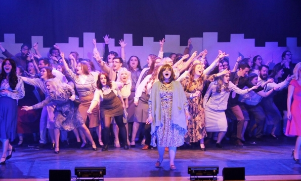 The cast of Dundee OpSoc's 9 to 5.