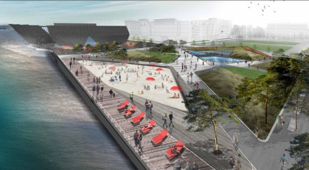 Free wifi is part of plans to make Dundee waterfront a lure for tourists and city folk alike.
