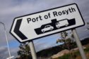Kris Miller, Courier, 01/09/14. Picture today shows sign for Port of Rosyth for story about European freight ferry being stopped due to new legislation. Rosyth Ferry Port, Rosyth Europarc
