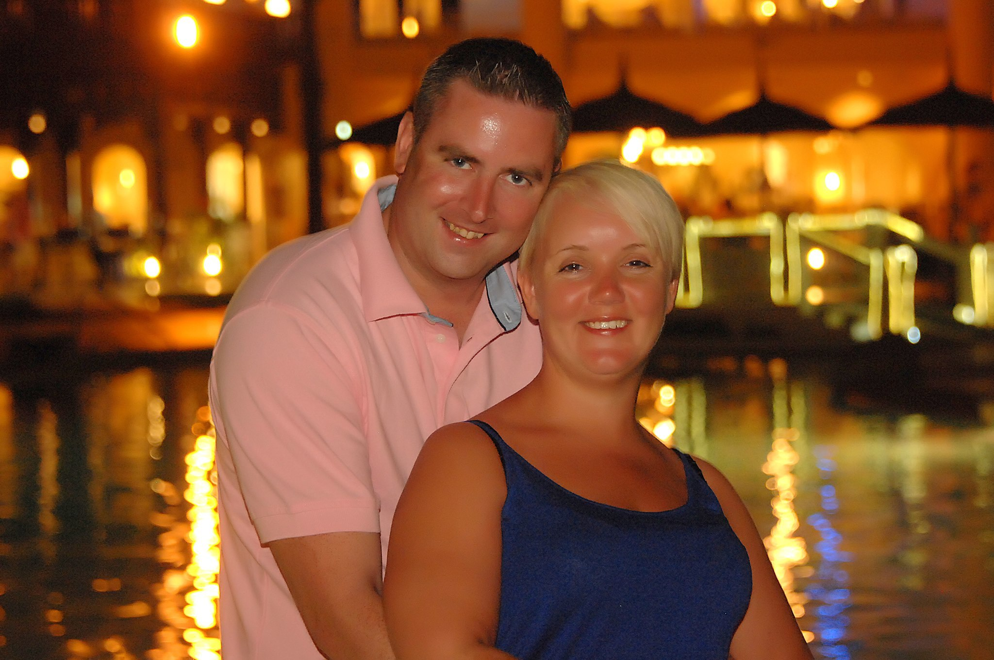 Debbie Stevenson, who embezzled £90,000, shown with husband Michael.