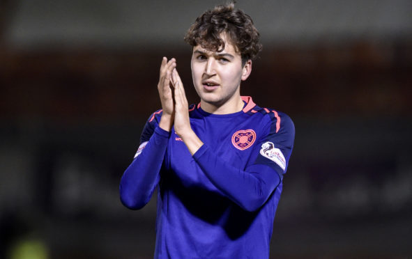 Dario Zanatta is on loan from Hearts.