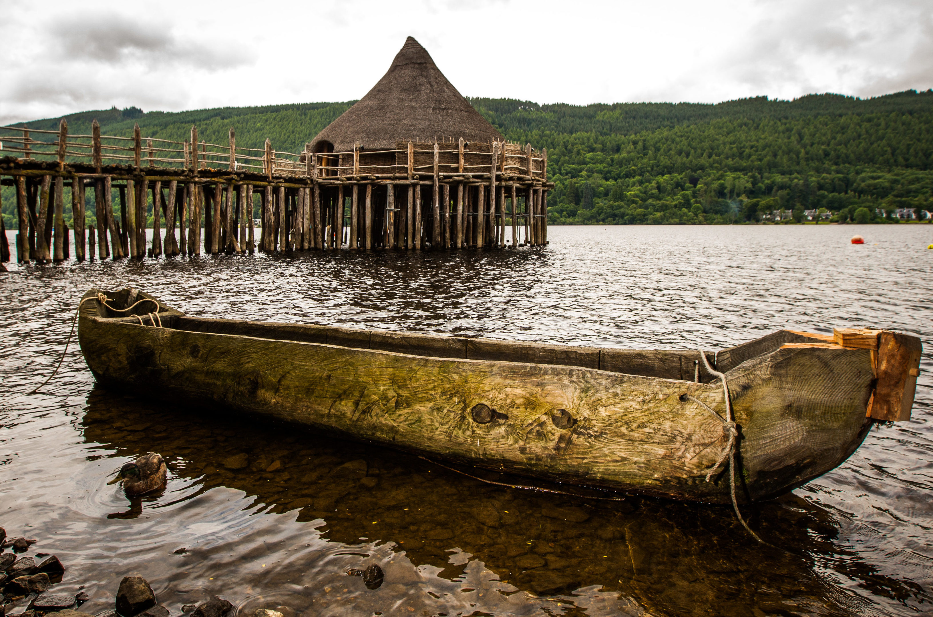 The Scottish Crannog Centre on Loch Tay at Kenmore.