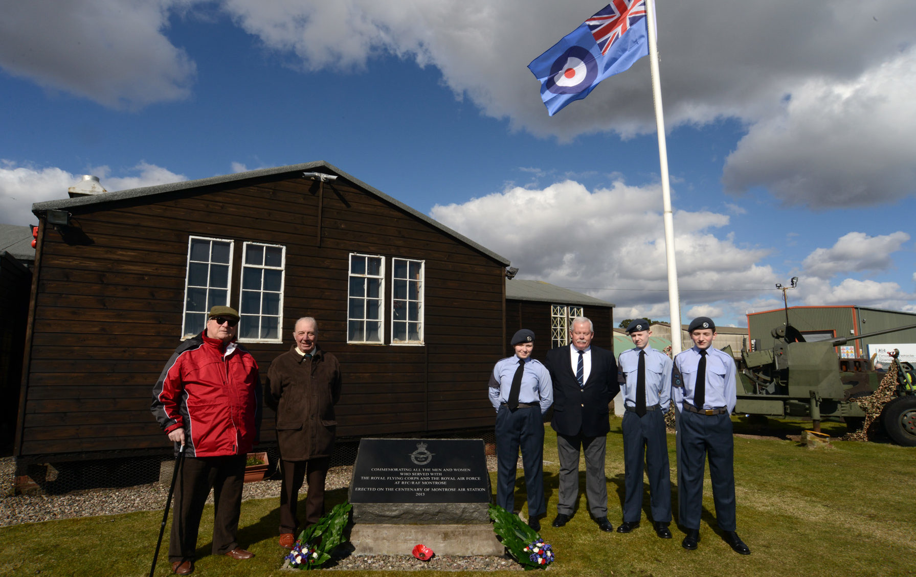 Wreaths were laid at Montrose to mark the centenary of the formation of the RAF
