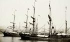 Windward and Wildfire in Dundee docks.