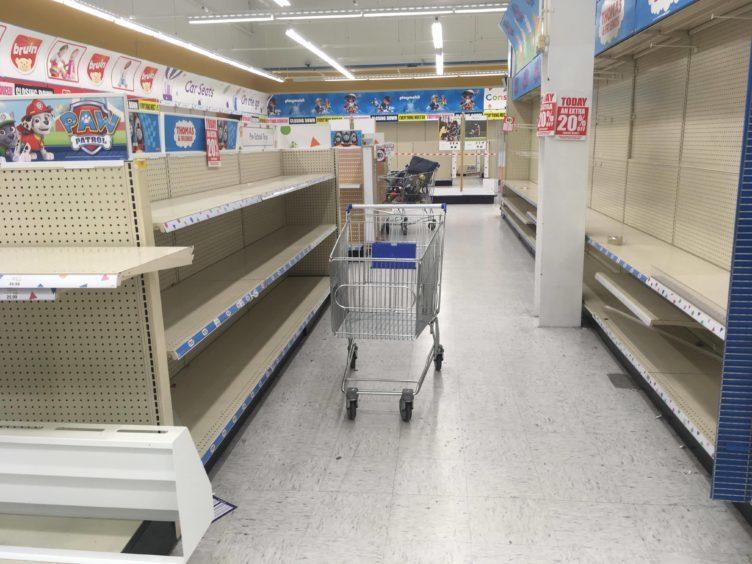 An empty Toys R Us Dundee