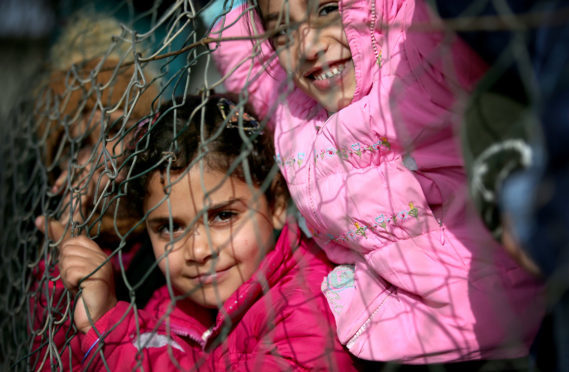 Young Syrians in a camp in Lebanon.