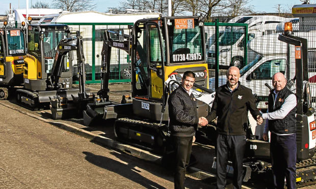 Ally Blyth Plant Hire Ally Blyth, managing director, Leigh Dalgleish, sales manager and Bobby Berwick, business operations director.