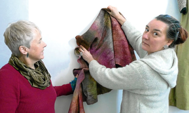 Alison Mountain and Jeanette Sendler of Big Cat Textiles