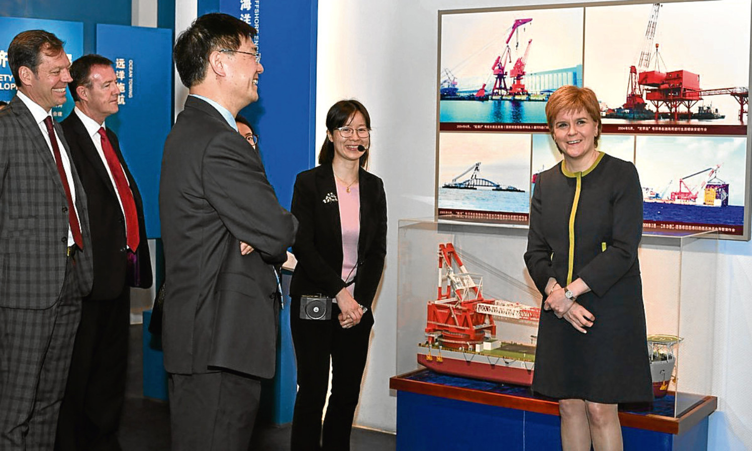 First Minister Nicola Sturgeon on a visit to the offices of COES during her trade mission to China.