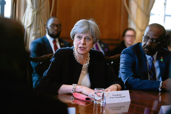 Prime Minister Theresa May hosts a meeting with leaders and representatives of Caribbean countries at 10 Downing Street.