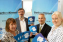 Lynne McCabe (Business Gateway), Corrado Mella (Federation of Small Businesses), Alan Graham (business development team leader, Perth and Kinross Council) and Vicki Unite (chief executive, Perthshire Chamber of Commerce).