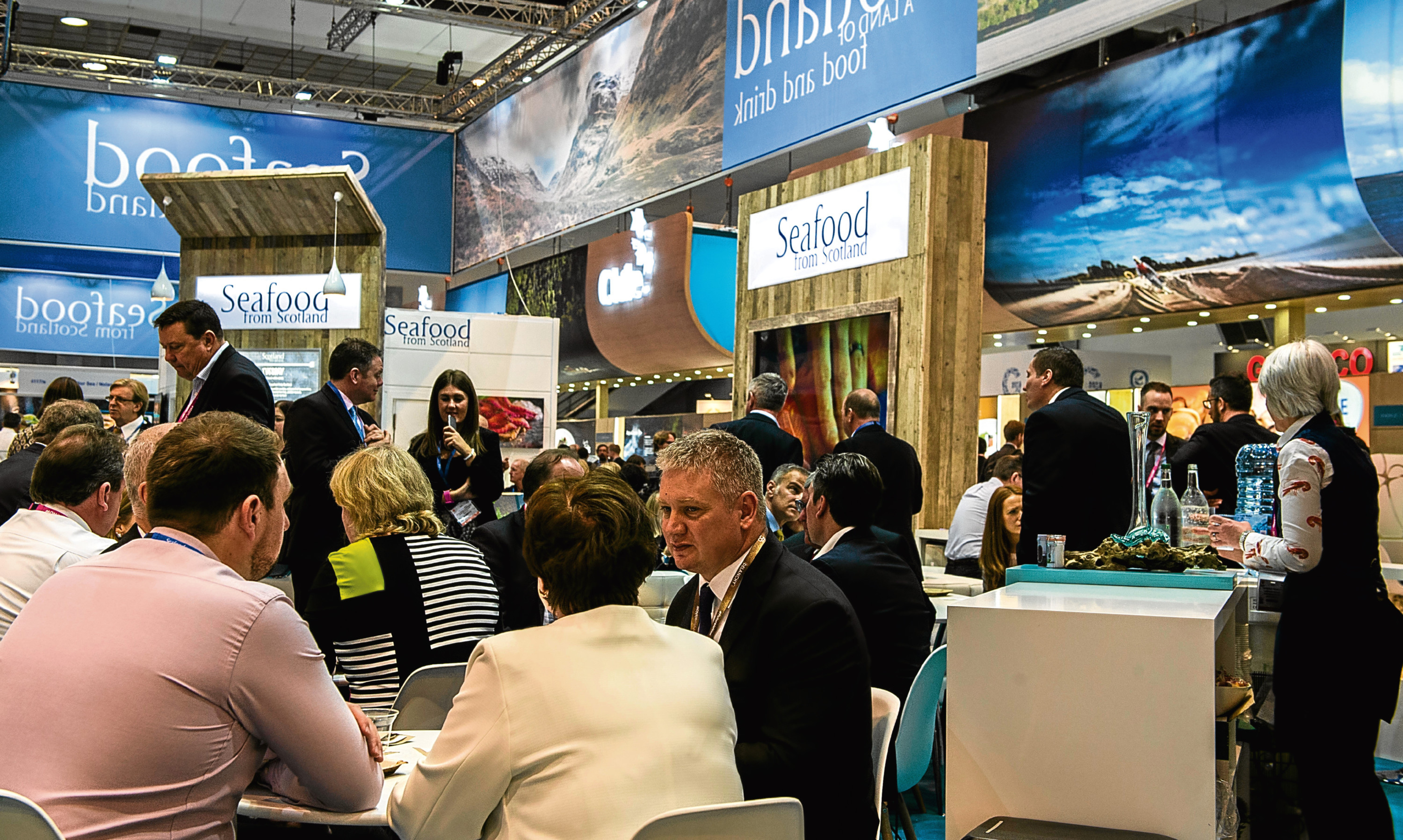 The Scottish stand at the Seafood Expo Global in Brussels.
