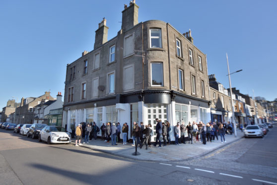 Crowds lined up outside Assai's previous shop in Broughty Ferry for Record Store Day.