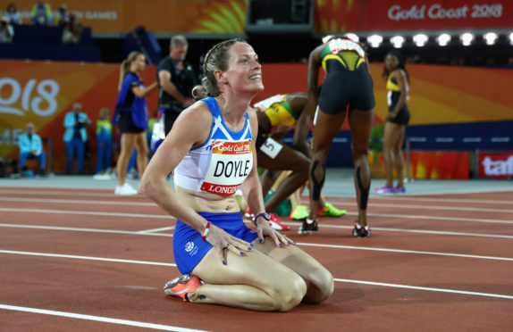 Eilidh Doyle after winning silver in Australia.