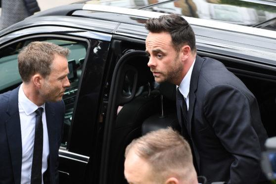 Ant McPartlin arrives at Wimbledon Magistrates Court