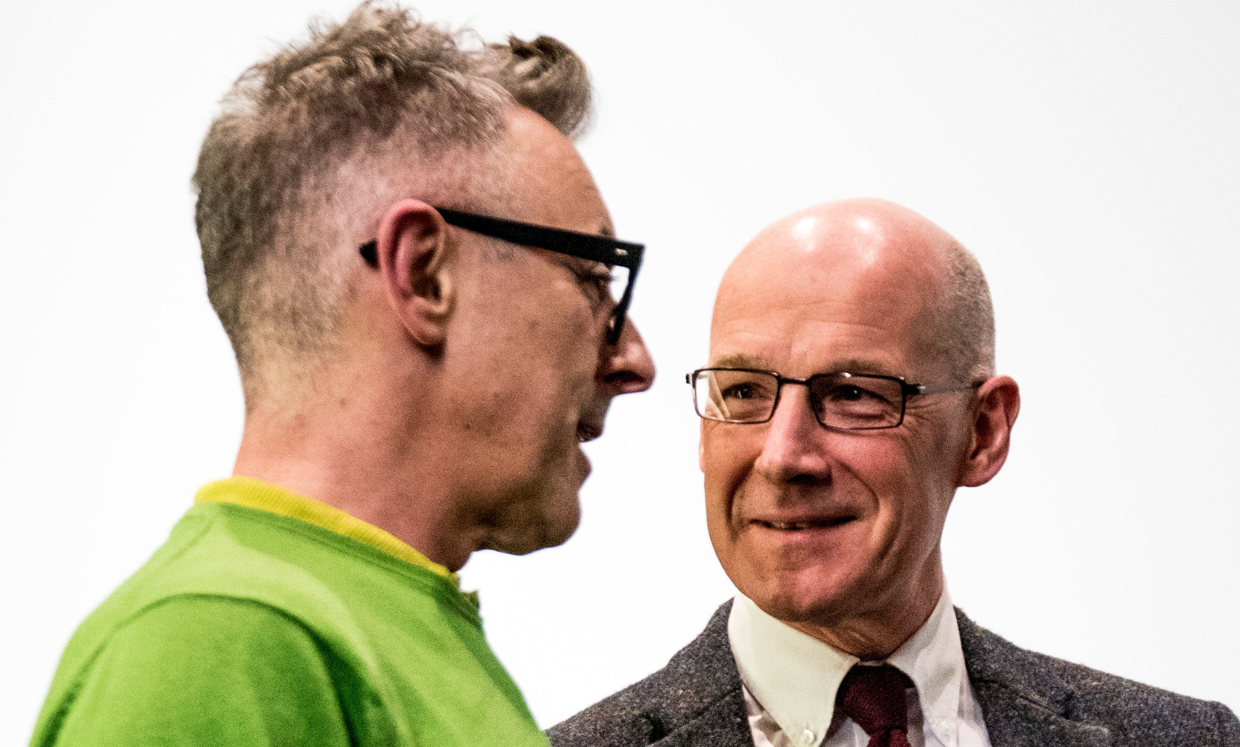 Alan Cumming and MSP John Swinney at The Birks Cinema, Aberfeldy