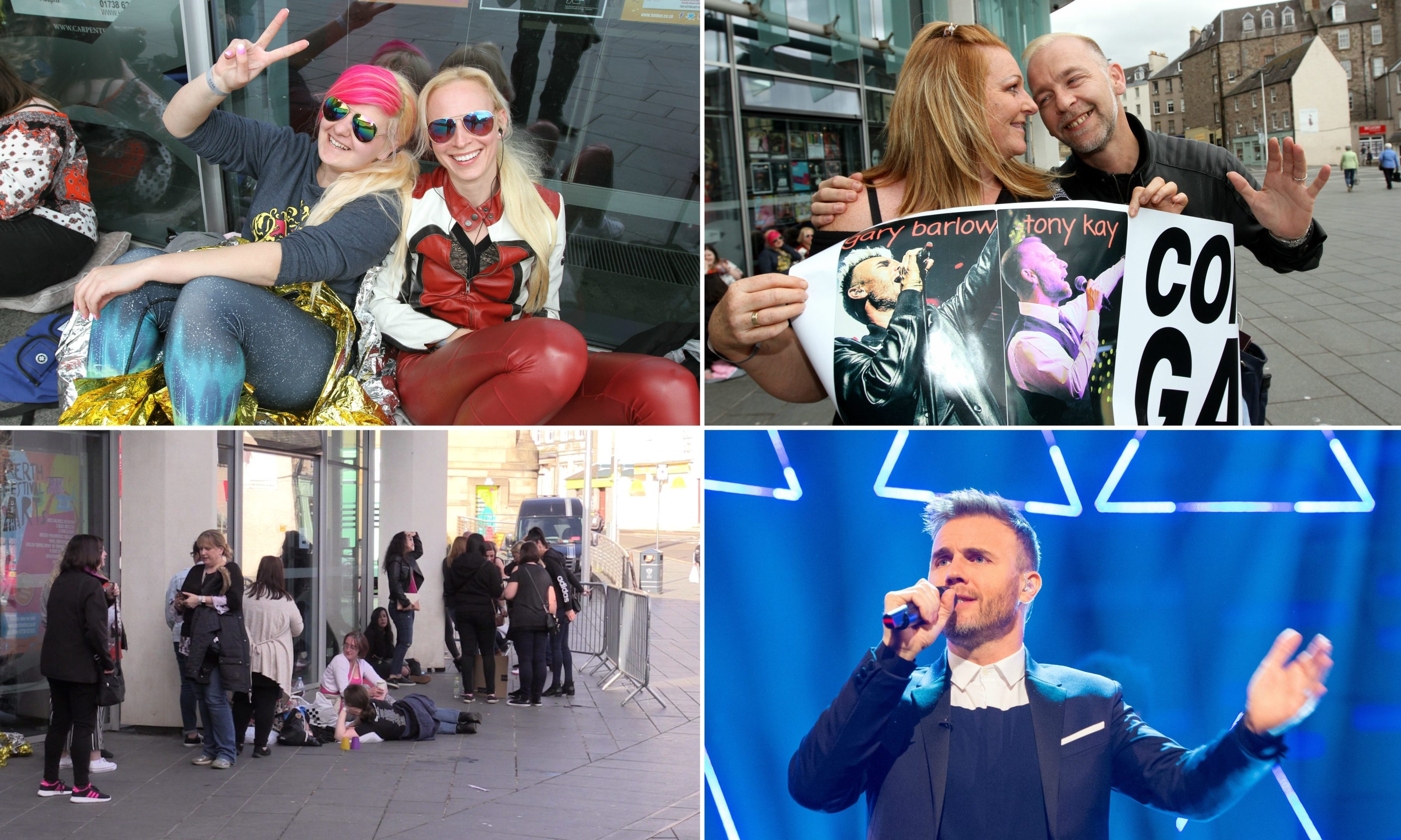 Fans waited outside Perth Concert Hall for more than a day to see Gary Barlow