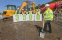 Fife Council's housing convener Councillor Judy Hamilton at  Bruce Street, Kinghorn, where new homes are being built, as Fife Council approved its programme to build 3,500 affordable homes by 2022