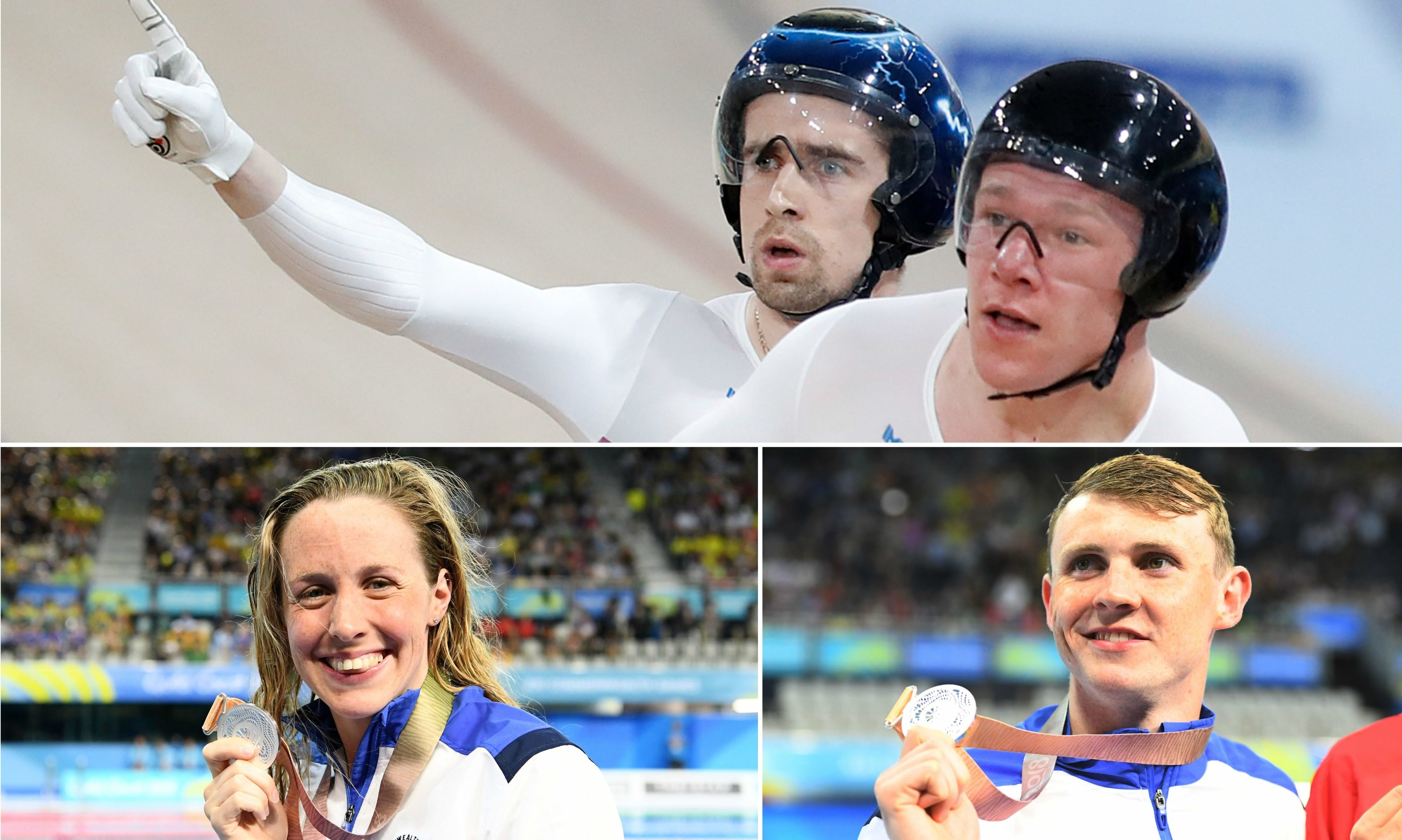 Scotland's Commonwealth Games 2018 medal winners Neil Fachie, Matt Rotherham, Hannah Miley and Ross Murdoch.