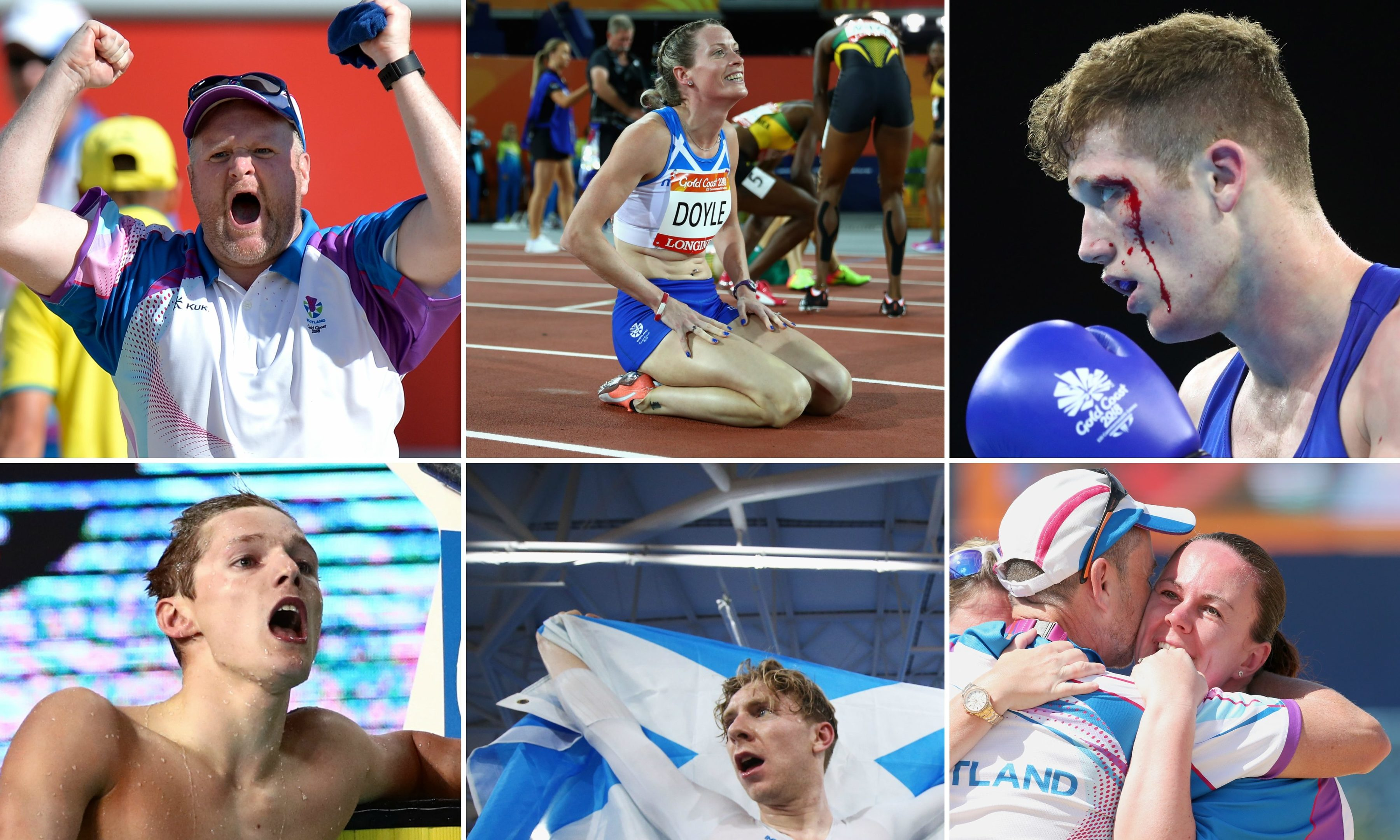 Some of Courier Country's sporting heroes from the 2018 Commonwealth Games.