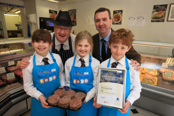 The burger was produced by Murray Lauchlan, a seventh-generation butcher at David Comrie and Son.