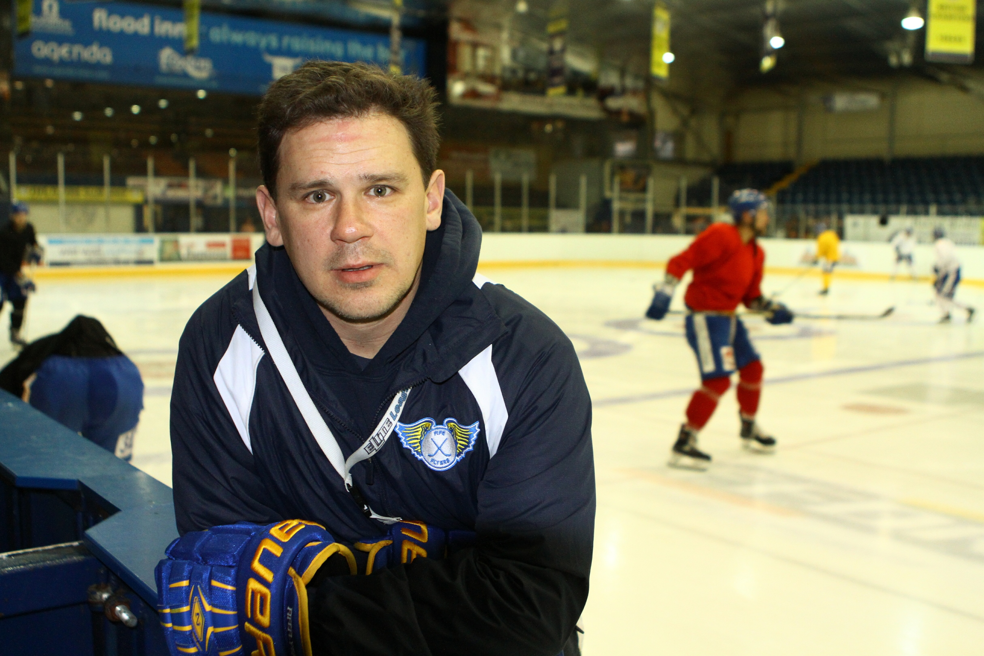 Fife Flyers Head Coach Todd Dutiaume.