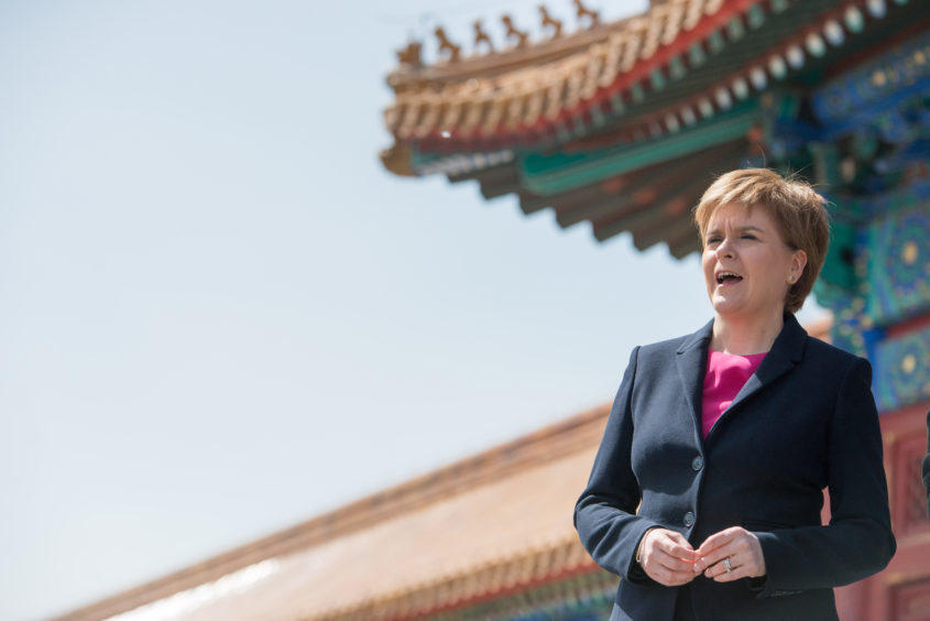 First Minister Nicola Sturgeon during her visit to China.
