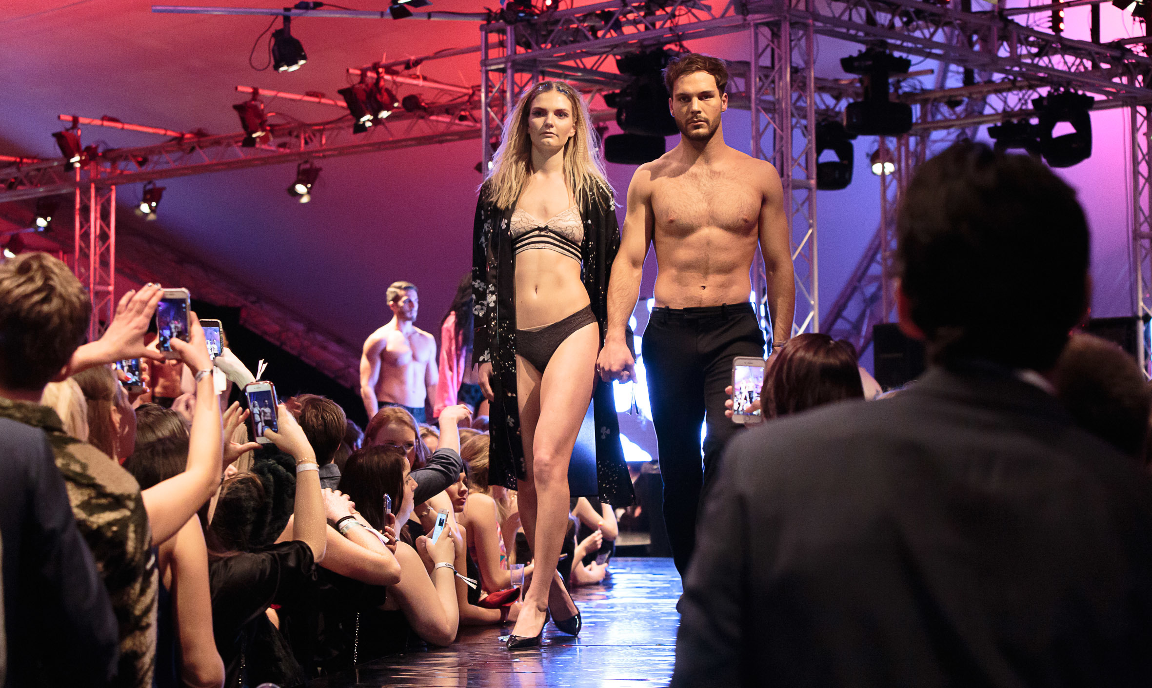 Models in the 2018 Dont Walk fashion show.