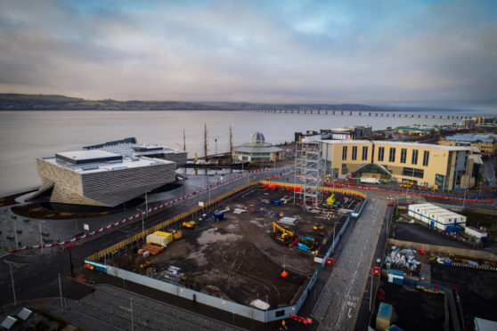 Drone footage of site six of the waterfront development, which will be home to an office block, hotel and flats. Credit: Rising View.
