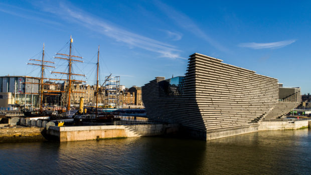V&A Dundee on the waterfront.