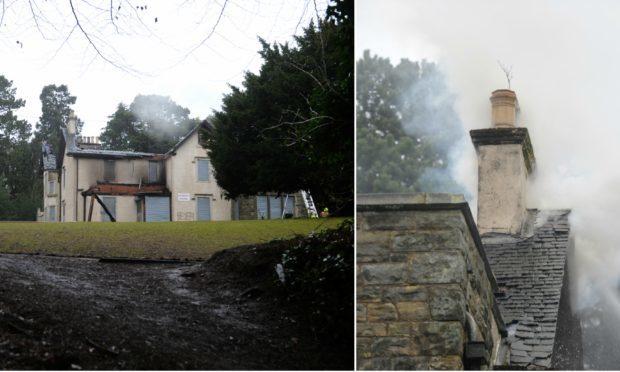 Smoke rises from Silverburn House