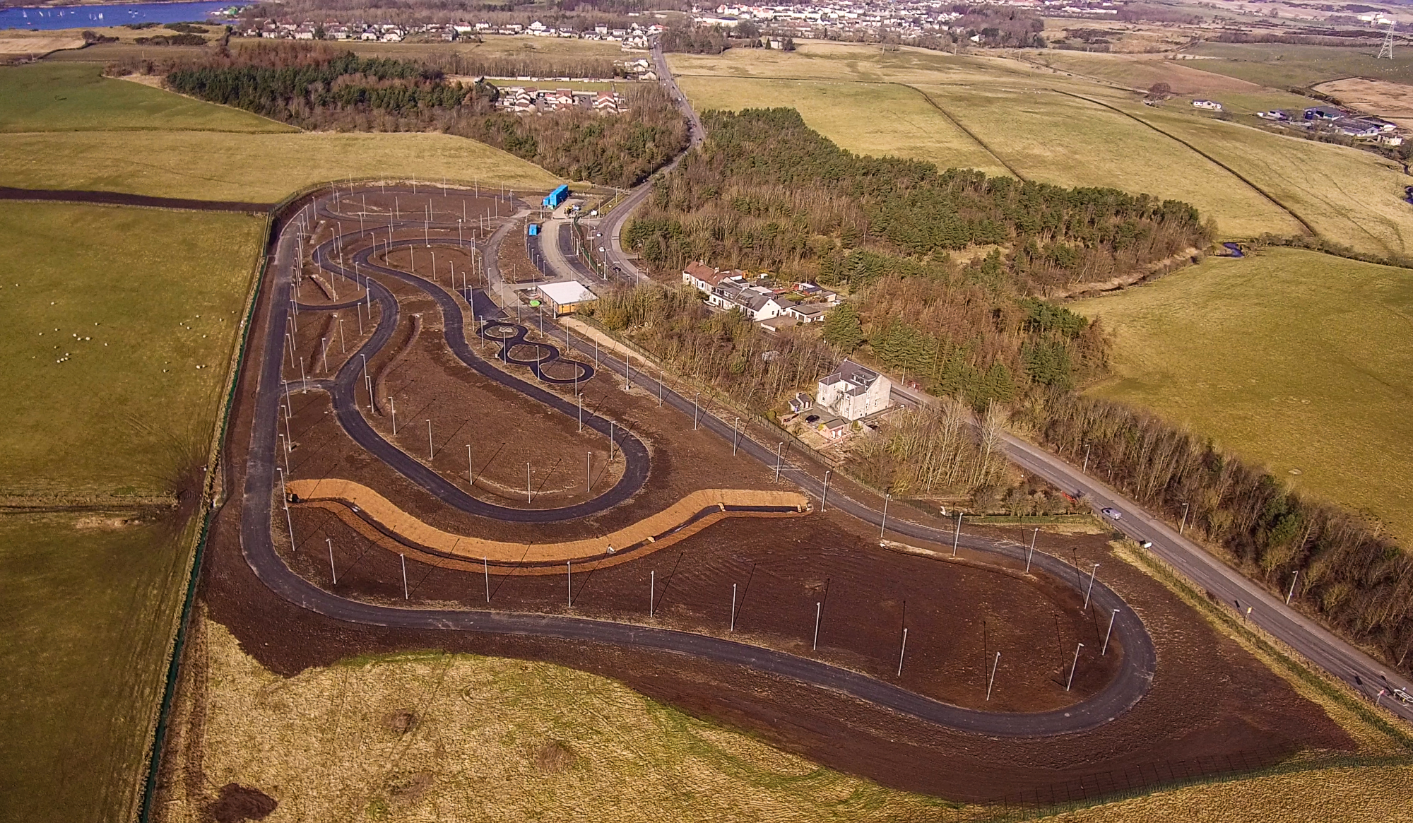 The Fife Cycle Park is taking shape.