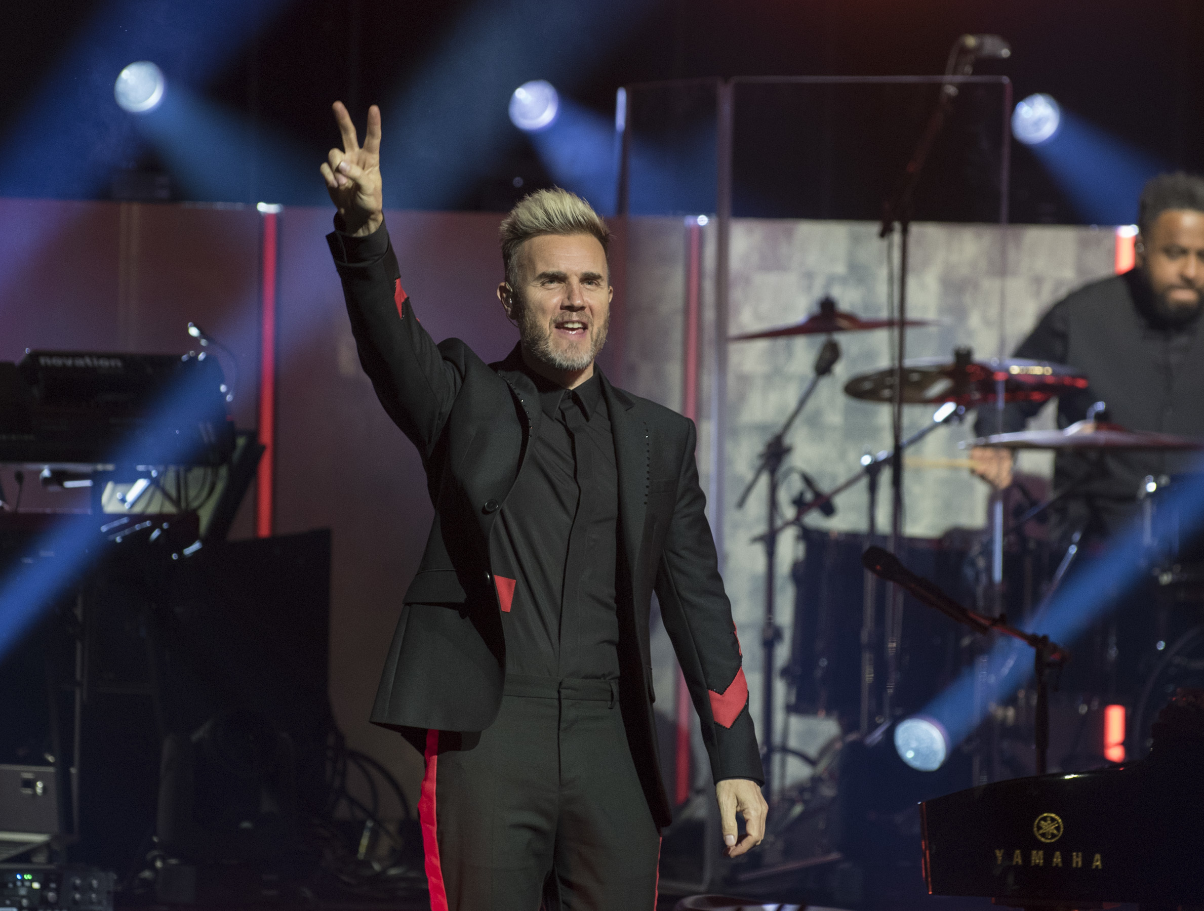 Gary Barlow pictured at Perh Concert Hall on Thursday night.