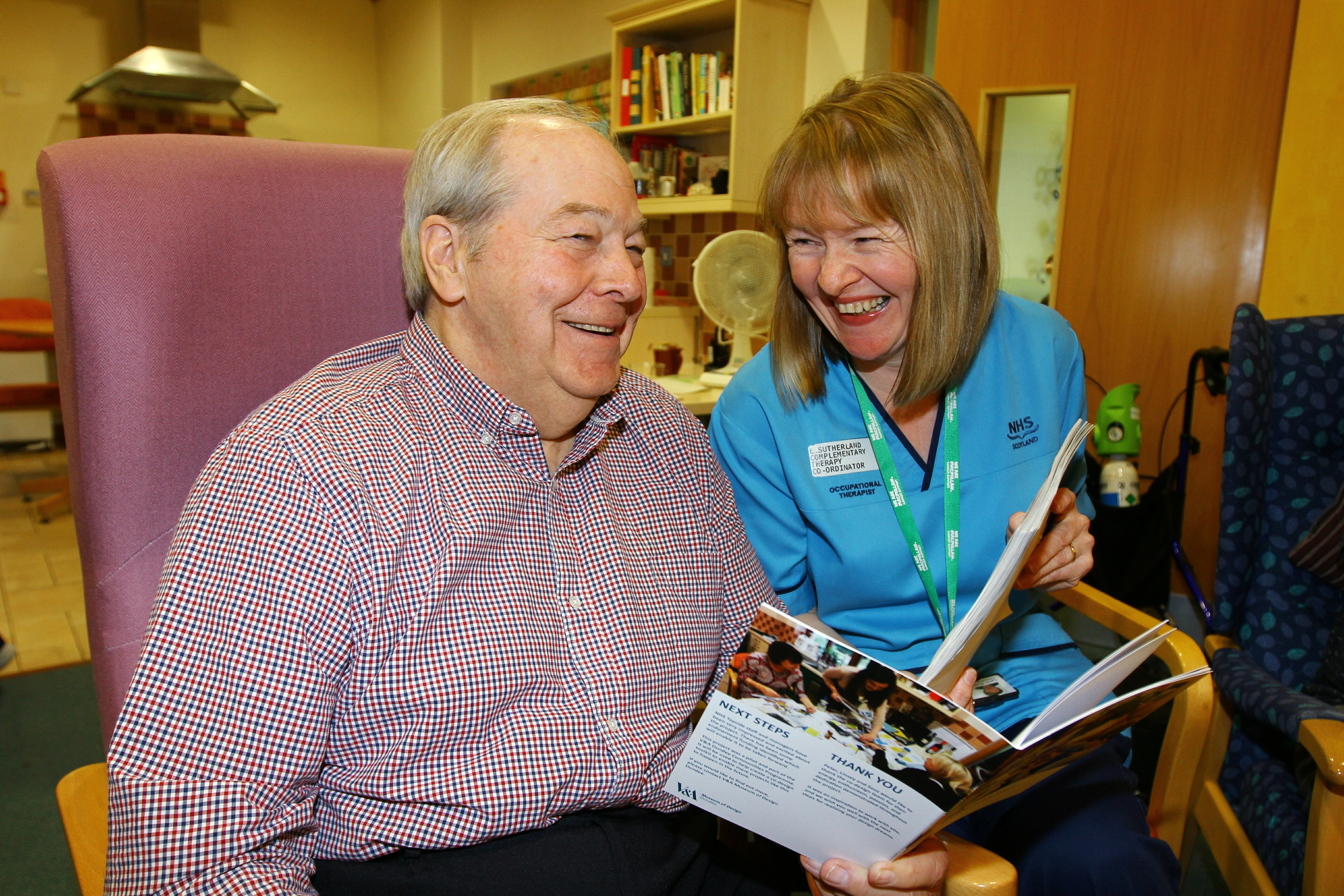 Patient Alan Mills with Occupational Therapist Lynn Sutherland