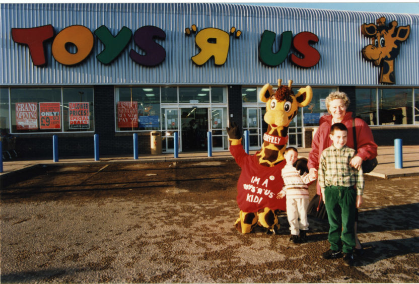 The opening of Toys R Us, Kingsway Dundee in 1996.