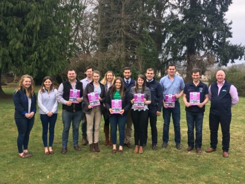 Members of the young farmers agri and rural affairs committee with their Brexit report