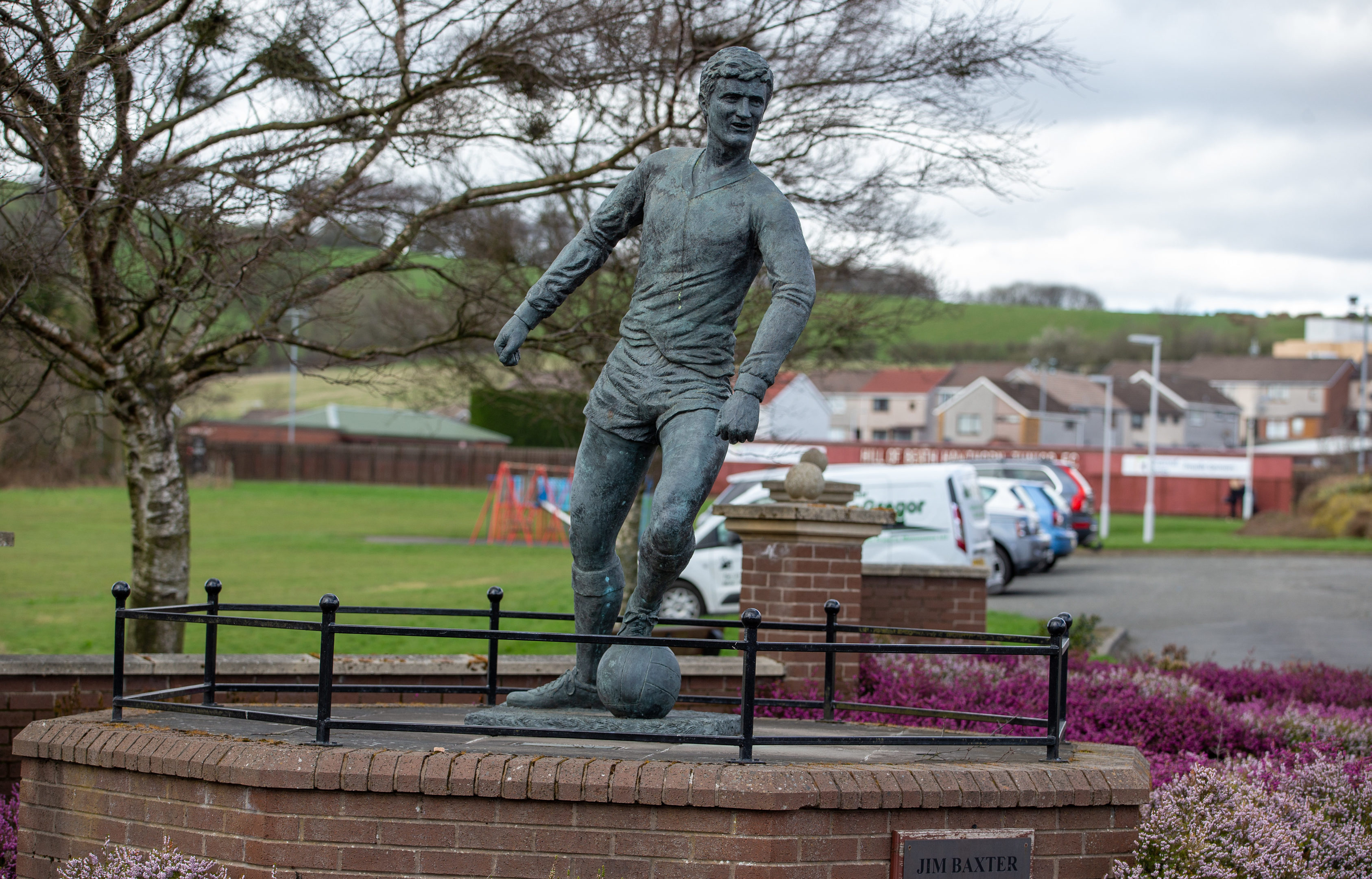 The statue to Jim Baxter in his home village