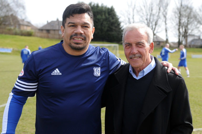 Fabian Caballero and his old boss, Jocky Scott