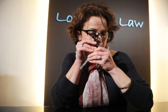 Jeweller Lorraine Law at work.