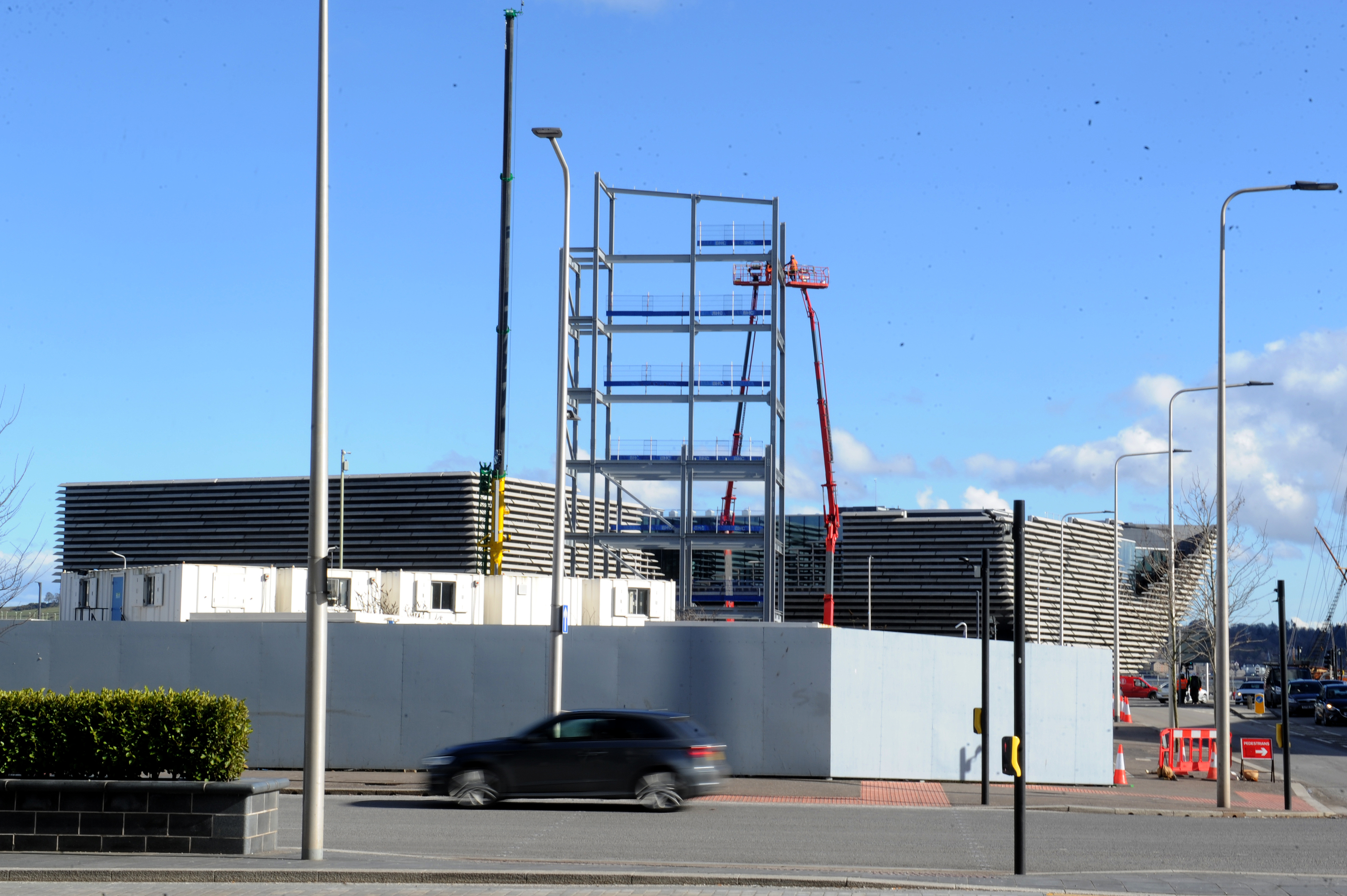 The new office block being built directly across from the V&A.