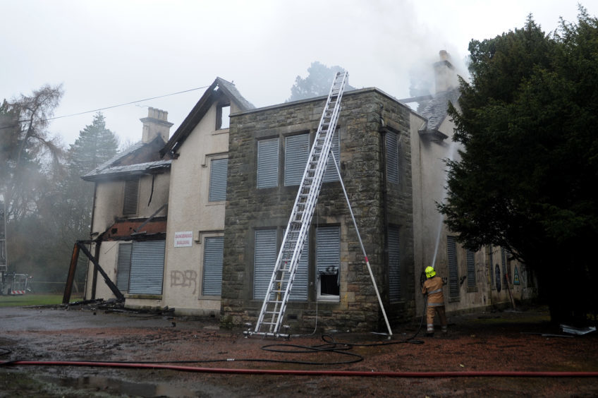 Silverburn House was destroyed