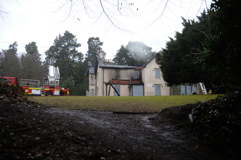 Silverburn House has been ruined by the fire