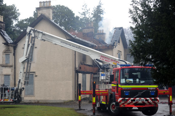 The fire gutted Silverburn House