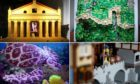 Miniature versions of the world's wonders – made from Lego— will go on display in Arbroath Abbey from Saturday