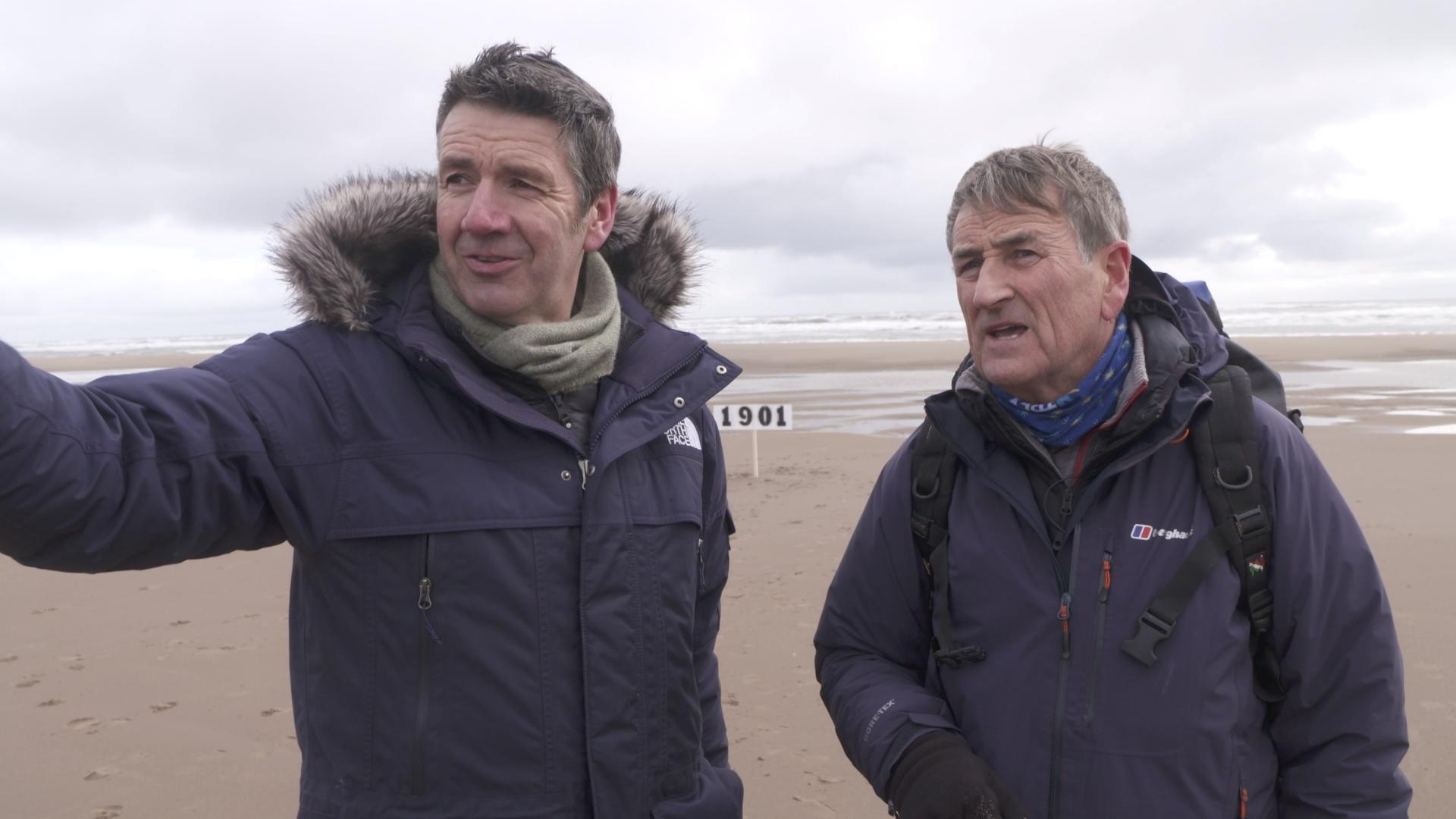 Landward presenter Dougie Vipond and Dr Jim Hansom
