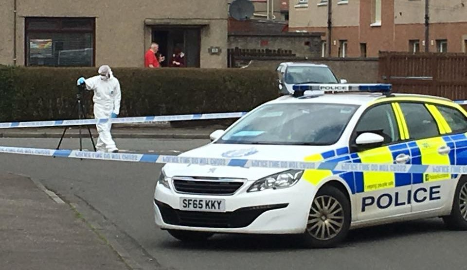 The police were at Arran Crescent for several hours on Saturday