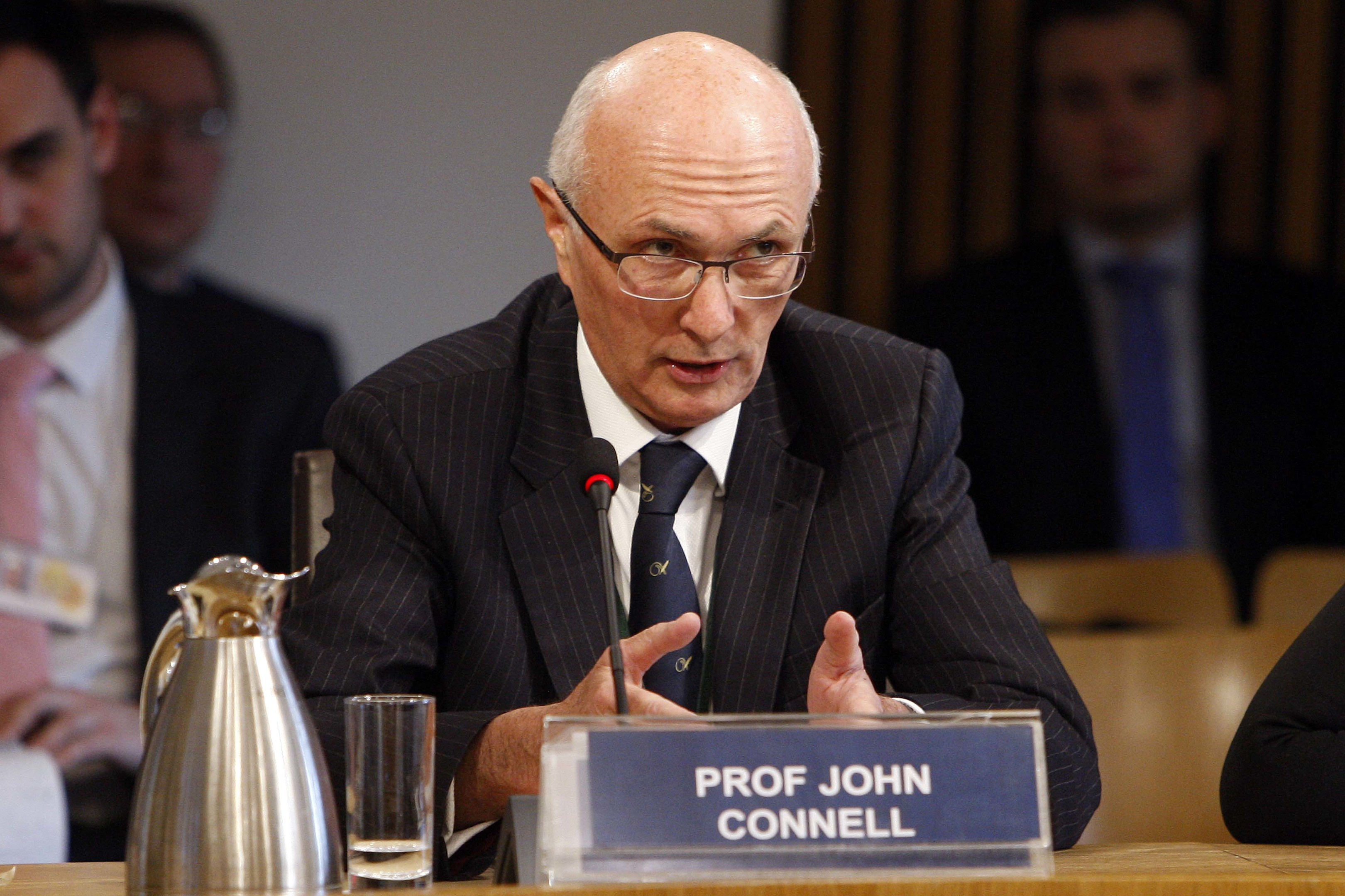 Professor John Connell, who resigned as chairman of NHS Tayside on Friday.