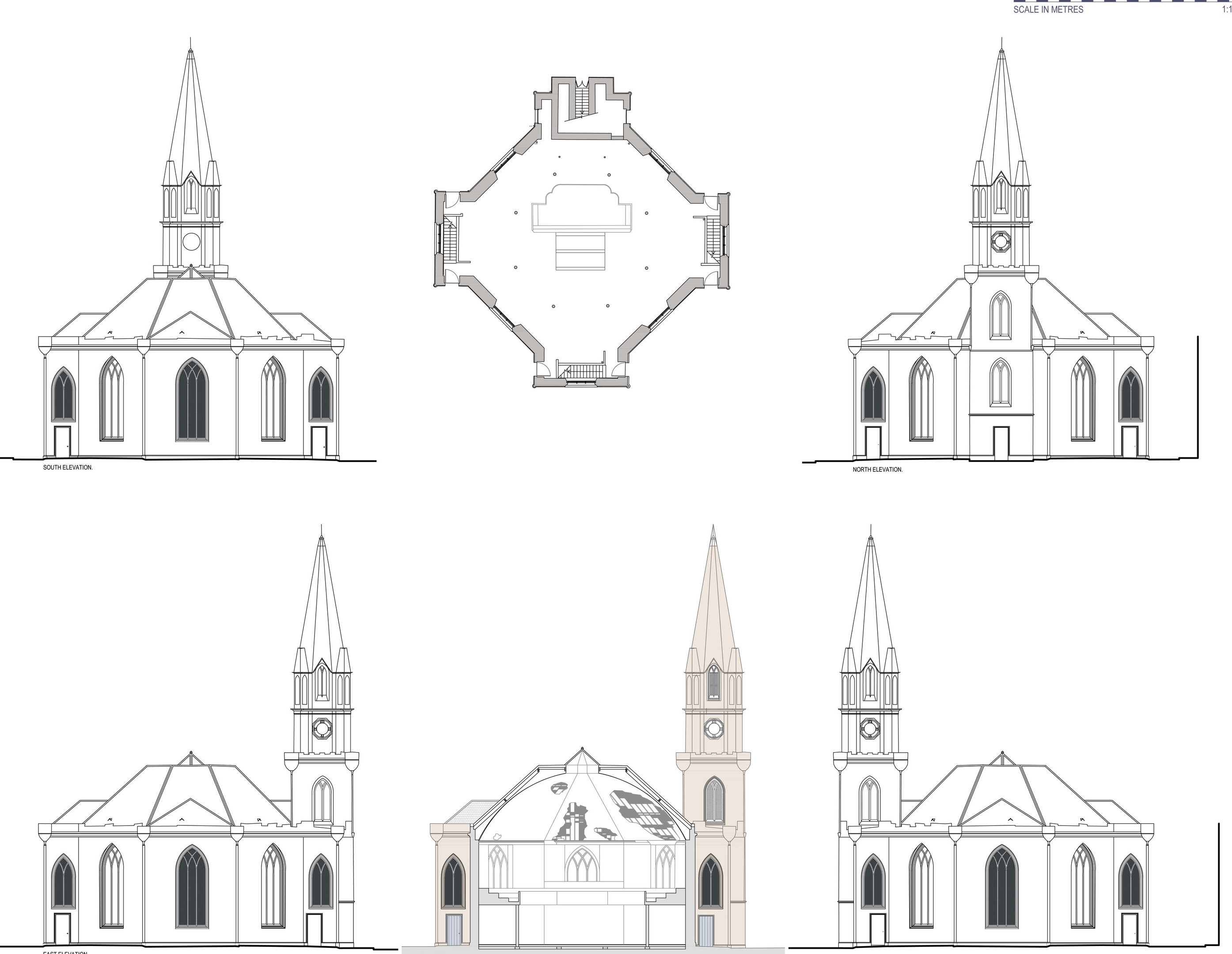 Submitted graphic of new designs for open civic space at St Paul's Church, Perth.